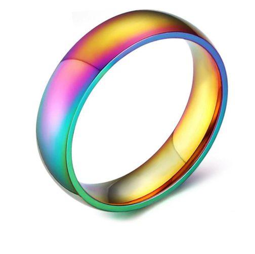 Bague multicolore couleurs drapeau LGBT