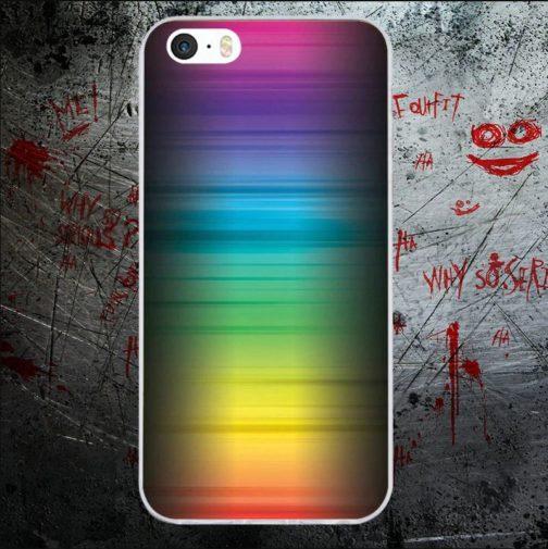 Coque Iphone flou couleurs arc-en-ciel LGBT