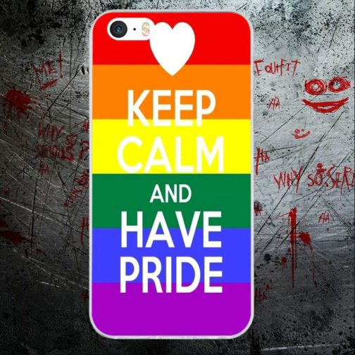 Coque Iphone keep calm and have pride drapeau LGBT