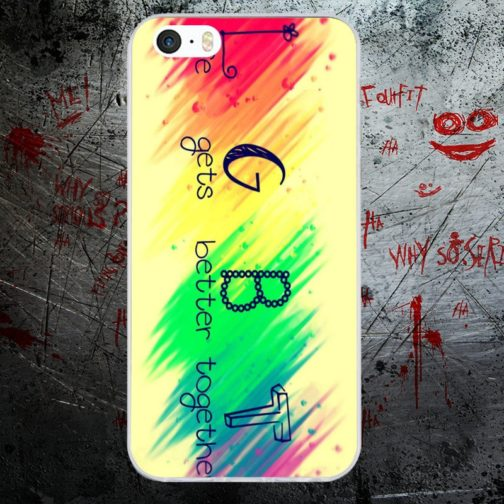 Coque Iphone Life Gets Better Together couleurs drapeau LGBT