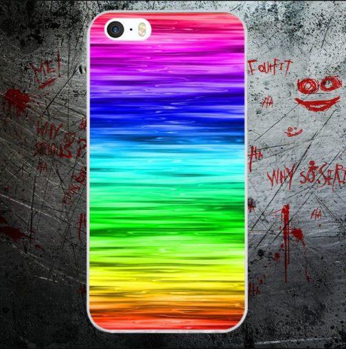 Coque Iphone océan couleurs arc-en-ciel LGBT