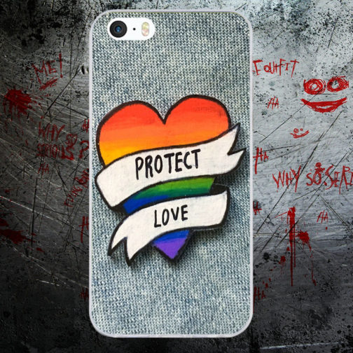 Coque Iphone protect love coeur LGBT
