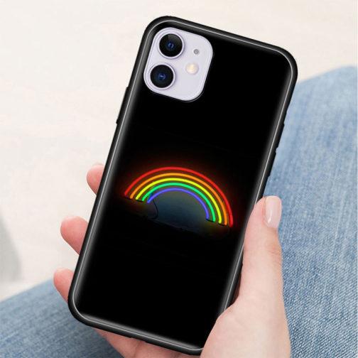 Coque Iphone Silicone LGBT - Arc-en-ciel