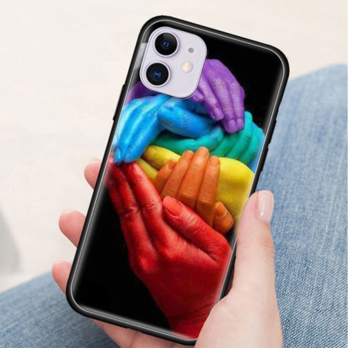 Coque Iphone Silicone LGBT - Mains