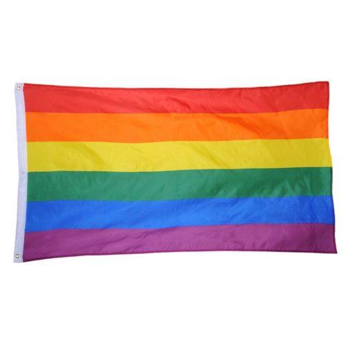 Drapeau LGBT 6 couleurs 90x150 cm