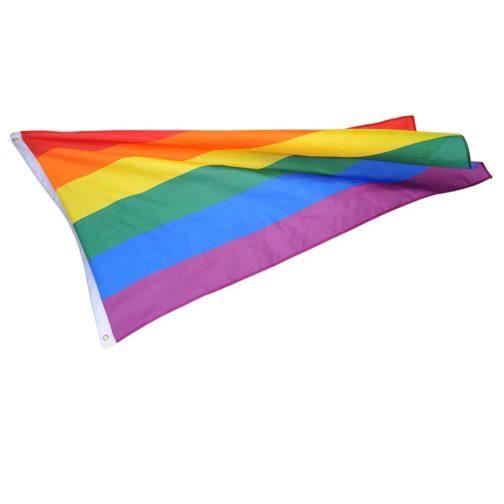 Drapeau LGBT 6 couleurs 90x150 cm vue générale