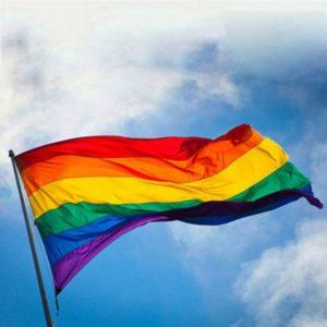 Drapeau LGBT 6 couleurs 90x150 cm en extérieur