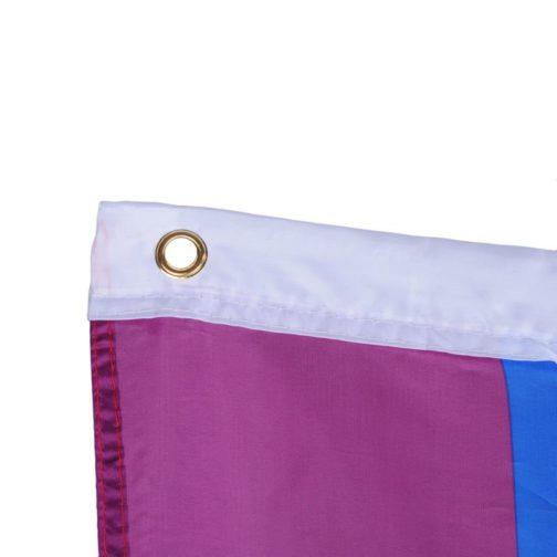 Drapeau LGBT 6 couleurs 90x150 cm focus oeillets
