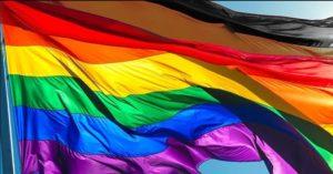 Drapeau LGBT original 8 couleurs 90x150 cm extérieur