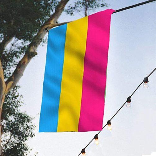 Drapeau pansexuel 90x150 cm suspendu