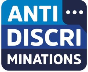 Logo plateforme antidiscriminations Défenseur des Droits