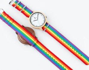 Montres LGBT cadran bois noyer et érable