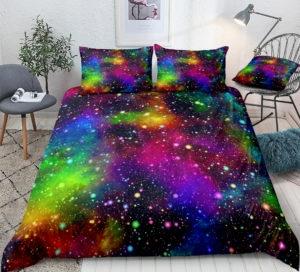 Parure de lit LGBT Galaxie chambre