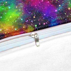 Parure de lit LGBT Galaxie chambre focus coutures