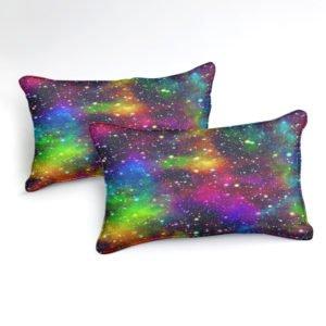 Parure de lit LGBT Galaxie focus taies d'oreiller