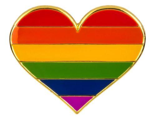 Pins en forme de coeur aux couleurs du drapeau LGBT de 1979 à 6 couleurs drapeau arc-en-ciel