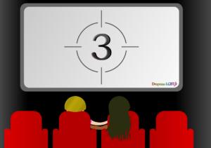 Dessin lesbiennes séance cinéma film