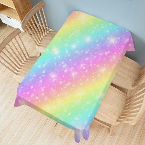 Nappe rectangulaire arc-en-ciel galaxie multicolore 140x200cm