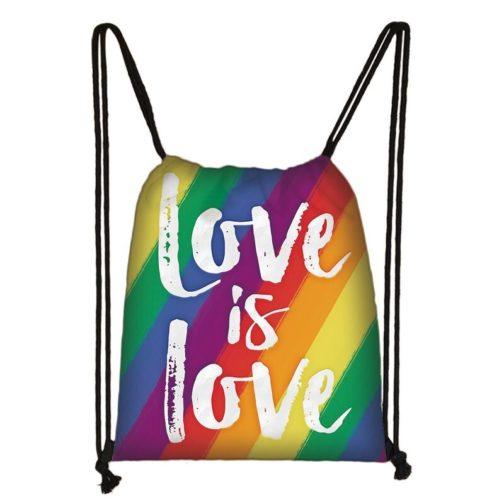 Sac à dos arc-en-ciel LGBT multicolore Love is love