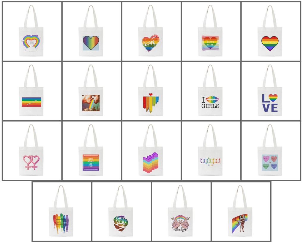 Tote bag LGBT 19 modèles arc-en-ciel
