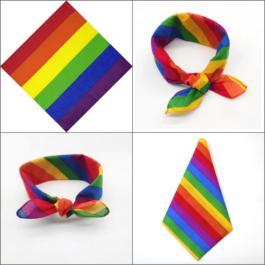 4 bandanas LGBT multiples bandes arc-en-ciel 6 bandes drapeau LGBT foulard noeud