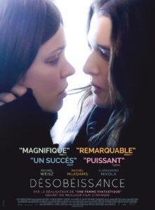 Affiche film Désobeissance de Sebastián Lelio 2017