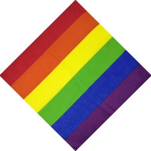Bandana LGBT - 6 bandes drapeau LGBT - foulard arc-en-ciel