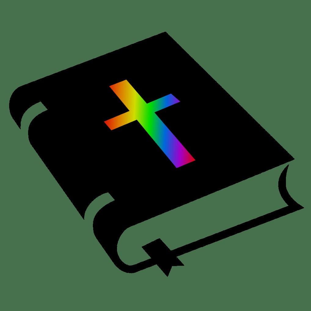 Imagine bible croix arc-en-ciel couleurs drapeau LGBT