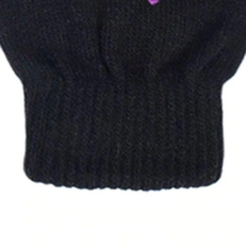 Gant coton noir - focus élastique