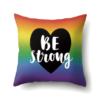 Be strong coeur arc-en-ciel