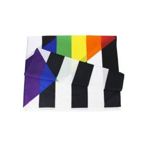 Drapeau allié hétérosexuel / Straight ally de 90x150 cm en polyester plié.