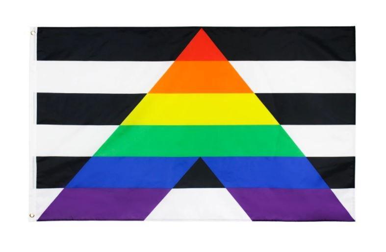 Drapeau Allié hétérosexuel Straight ally polyester 90x150 cm