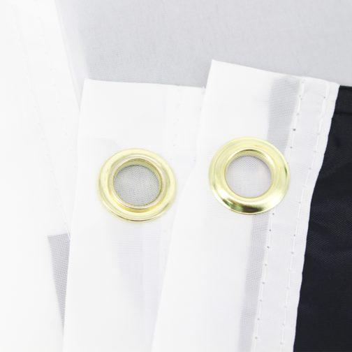 Drapeau allié hétérosexuel / Straight ally de 90x150 cm en polyester. Focus oeillets métalliques angles.