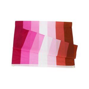 Drapeau lesbien polyester plié 90x150cm design 2010