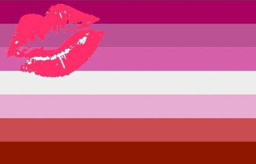 Drapeau lipstick lesbien polyester 90x150cm design 2010