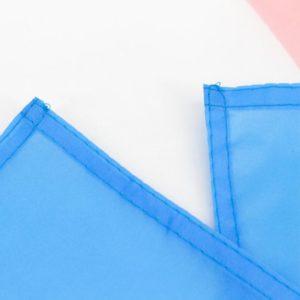 Drapeau Trans Transgenre Transexuel de 90x150 cm en polyester. Focus coutures coins