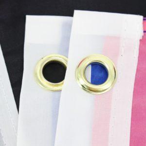 Drapeau genderfluid 90x150cm - focus oeillets métalliques