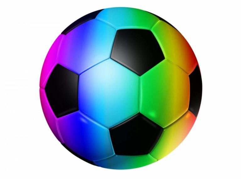 Ballon football arc-en-ciel drapeau LGBT
