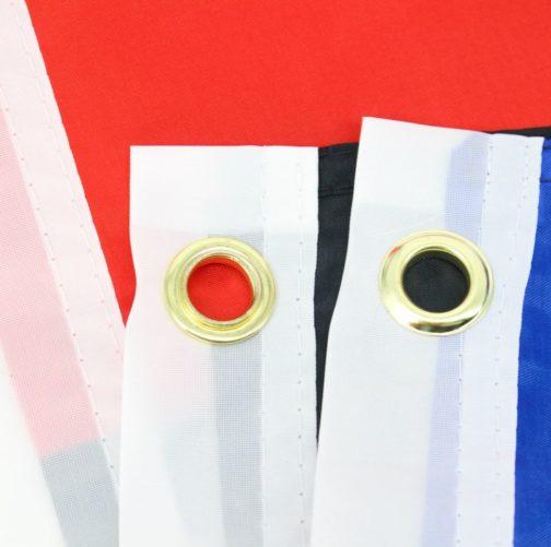 Drapeau polyamour polyester 90x150 cm - focus oeillets métalliques