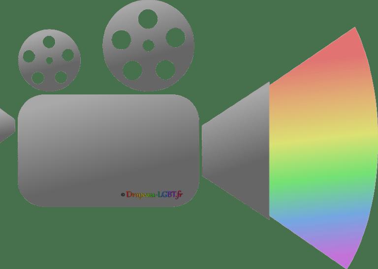 Drapeau-lgbt.fr - caméra film arc-en-ciel