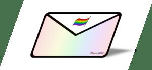 Lettre arc-en-ciel rainbow drapeau-LGBT