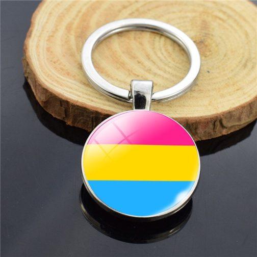 Porte-clés drapeau pansexuel