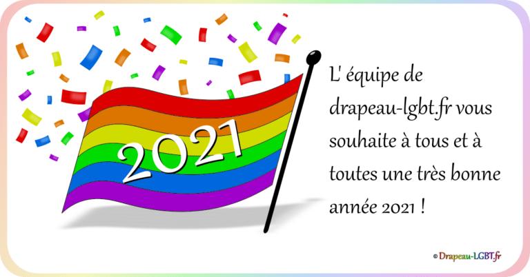 Publication réseaux sociaux drapeau-lgbt.fr bonne année 2021