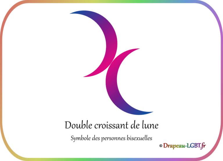 Drapeau-lgbt.fr croissants lune symbole personnes bisexuelles