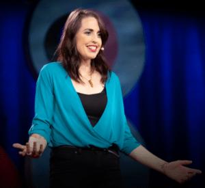 Emily Quinn photo activiste intersexe pendant TED Talk