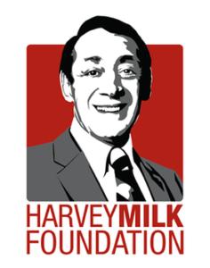 Logo Harvey Milk Foundation Fondation honneur homme politique américain activiste droits personnes homosexuelles et LGBTQI+
