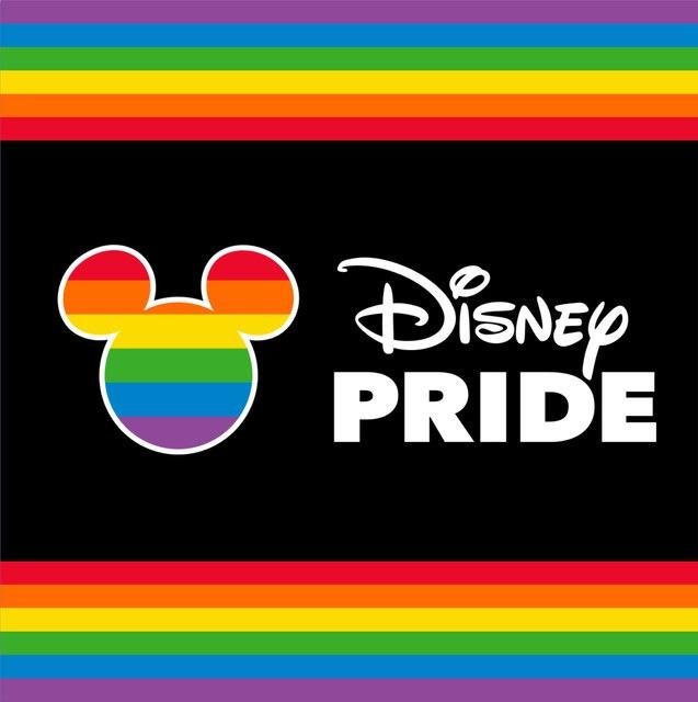 Disney Pride logo Mickey Mouse arc-en-ciel