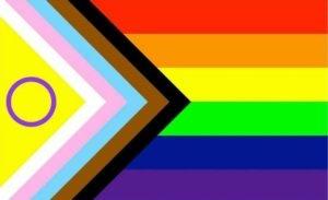 Drapeau LGBT arc-en-ciel design 2021 EuroPride Daniel Quasar Progress Pride Flag