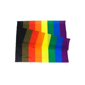 Drapeau LGBT Philadelphie 90x150 cm vue drapeau plié