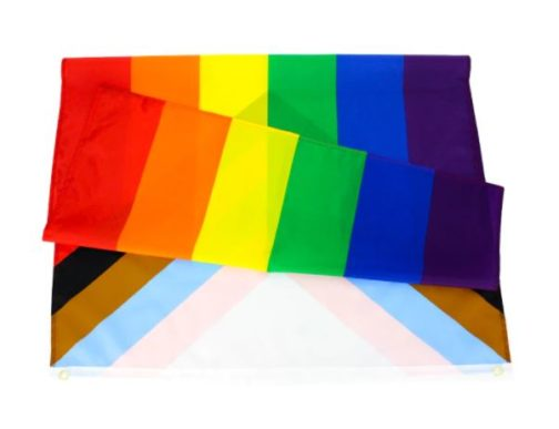 Drapeau Progress Pride Flag officiel 90x150 cm plié